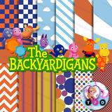 Kit Imprimible Backyardigans Pack Fondos Papeles Digitales