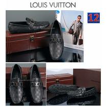 Mocasin Louis Vuitton Azul Y Negro Damier Envio Dia Sig
