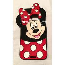 Funda Htc M10 Minnie Silicon Protector Figura Mouse 3d M