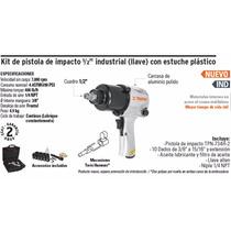 Kit De Pistola De Impacto 1/2 Industrial (llave) C/ Estuche