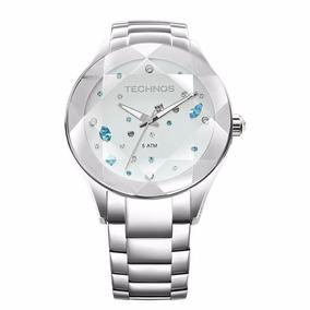 Relógio Technos Feminino Crystal Elegance 2039av/1k Prata