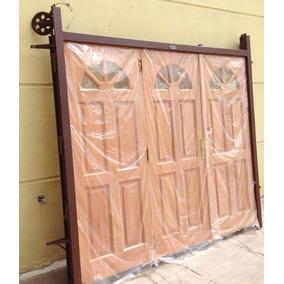 Porton garage madera aberturas portones en mercado libre - Garage de madera ...
