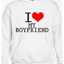 Paquete De Sudaderas Diseños Pareja I Love My Girl/boyfriend