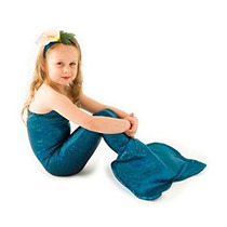 Disfraz Para Niña Cola De La Sirena Costume- Una Sola Pieza