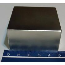 Imã De Neodímio N50 Super Forte 50,8mm X 50,8mm X 25,4mm