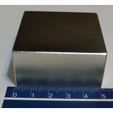 Imã De Neodímio N50 50,8mm X50,8mm X25,4mm Energia Magnetica