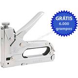 Grampeador P/ Tapeceiro Artesanato Estofado + 6 Mil Grampos