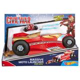 Mega Lanzador De Motos Iron Man, Hot Wheels
