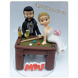 Topo De Bolo,noivinhos Fofo Biscuit Personalizados Casamento