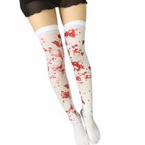 Medias Sangre Disfraz Cosplay Gotico Dark Pastelgoth Nugoth