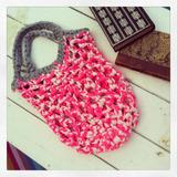 Cartera / Bolsa Red Para Hacer Compras - Tejida A Crochet