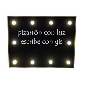 Pizarrón Negro Luz Led Letrero Boda Mesa Fiesta Candy Bar