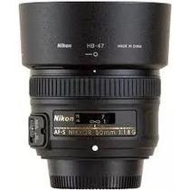 Lente Nikon 50mm F/1.8g Af-s Autofoco + Parasol + Garantia