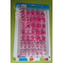 *kit 40 Cortadores Letras Numeros Signos Galletas Fondant