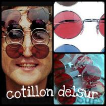 Anteojos Gafas Lennon Cotillon Disfraz Redondas Fiesta X10!