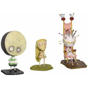 Set 3 Figuras Tim Burtons Tragic Toys Pin Queen Brie Staring