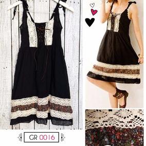 Vestido Negro Muselina Breteles Regulables (forrado), Gr0016