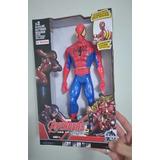 Boneco Homem Aranha The Avengers 30cm C/ Luz E Som Articul