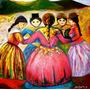 Danza Andina Óleo Sobre Lienzo Arte Coleccionistas