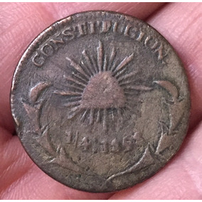 1/4 Real Durango 1858 (cobre) Una Cuartilla.