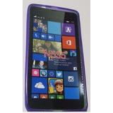 Funda Tpu Nokia Lumia N 535 Violeta Silicona