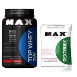 Top Whey Protein 3w 900g + Dextrose - Max Titanium