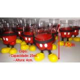 40 Copos Potes Para Doce Enfeites Aniversário Mickey
