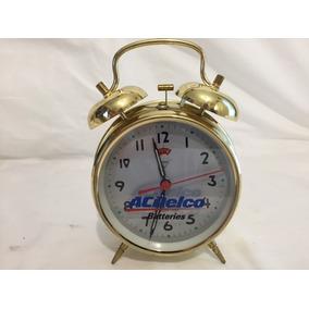 Hermoso Reloj Despertador Vintage Acdelco Mecánico Nuevo