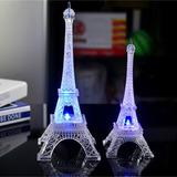 Torre Eiffel Em Acrilico Com Led Miniatura Cores