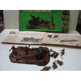 Antigo Kit Da Revell Brasil - Anos 60 - Us Army 105 Mm 1/40