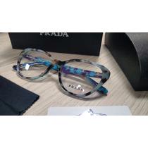 Armação Para Óculos De Grau Acetato Prada Vpr08 Havana