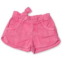 Shorts Jeans Feminino Rosa Tamanho 6-9 Meses - Toffee