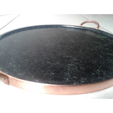 Forma De Pizza Em Pedra-sabão - 40 Cm De Diâmetro Área Útil