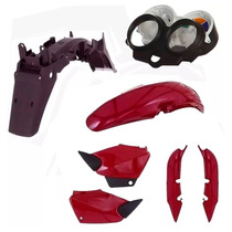 Kit Carenagem Plástico Cg 125 Titan Ano 2000 2001 - Vermelho