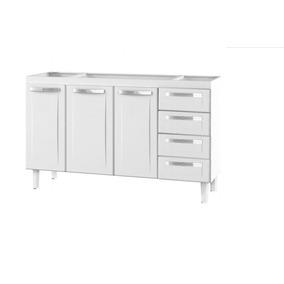 Gabinete Quality - Pia 1,60m - Branco- Cozimax