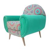 Sillon Sofa Vintage Retro Estampado Y Pana Hormigaemergente
