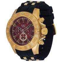 Relógio Ewc Extra Grande Emt15301 Wr 100m 2 Anos Garantia