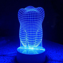 Lampara Luz Led 3d Muela Colores Rgb Oferta Dentista Odontol