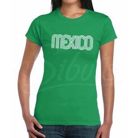 Playera Mujer Diseño México 68 Fiestas Patrias