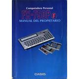 Computadora Personal Casio Fx-750p(f) Manual Del Propietario