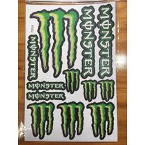 Adesivo Monster, Capacete,moto,cbr,hornet,xj6,bmw,gp,racing