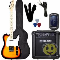 Kit Guitarra Strinberg Telecaster T-250s + Cubo Meteoro Loja