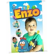 Personagem Infantil Festa Criança Decoração Banner Adesivo