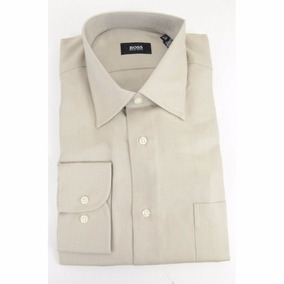 Hugo Boss Camisa Beige Original Chica Mediana