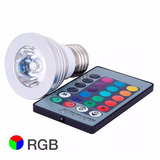 Lampara Led E27-gu10 3w Rgb C/contr Remoto 16 Color Rgb 220w