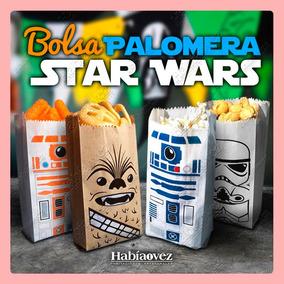 Bolsa Para Palomitas De Star Wars Para Fiesta De Cumpleaños