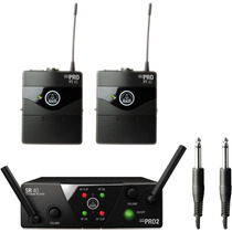 Akg Wms40 Mini Dual Instrument Microfono Inalambrico Doble