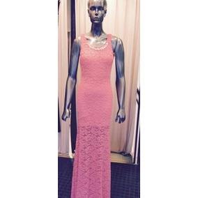Vestidos largos rosa palo espalda descubierta