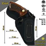 Coldre Civil Interno Paisano De Couro Revolver 38 6a8 Tiros
