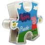 Puzzle Peppa Pig Caja Con Forma Ficha 12 Piezas +3 Años